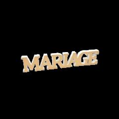 """Décoration """"Mariage"""" métallisée or"""