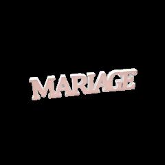 """Décoration """"Mariage"""" métallisé rose gold"""