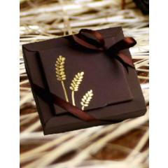 Boîtes dragées Nina GM COMMUNION - chocolat avec épis or