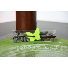 Papillons en feutrine avec oeillet - Vert anis