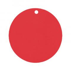 Etiquettes rondes rouge