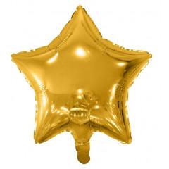 Ballon hélium étoile or 48 cm
