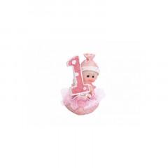 Figurine anniversaire fille 1 an