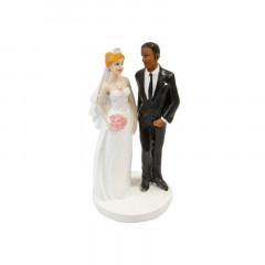 Figurine mariage marié mate de peau