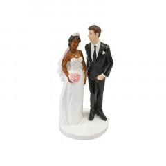 Figurine mariage mariée mate de peau
