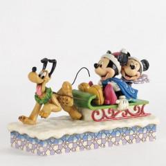 Figurine Mickey, Minnie et Pluto de collection
