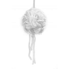 boule pétales de rose blanche