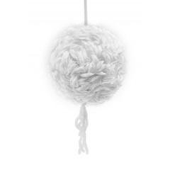 boule pétales de rose blanche 25 cm