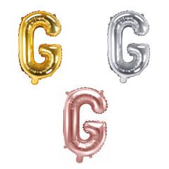 Ballon lettre G - 36cm - coloris au choix