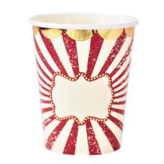 Gobelets en carton cirque x8