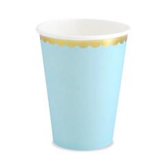 6 gobelets bleu et or