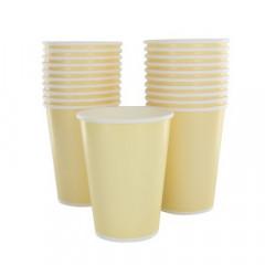 10 gobelets jetable ivoire