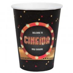 Gobelet Cinéma noir et rouge