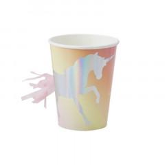 Gobelet Licorne Iridescent x8