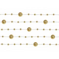 Guirlande de perles 1m30 – or