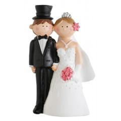 Grande figurine mariés - Mr & Mrs à prix discount