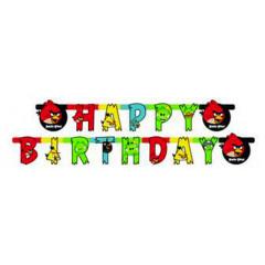 Guirlande Happy Birthday  Angry Birds