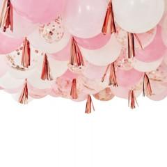 Guirlande de ballon rose gold et rose (x160)