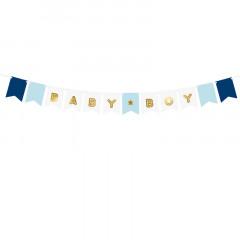 Guirlande de fanions Baby Boy 160 cm