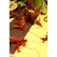 Guirlande plumes chocolat