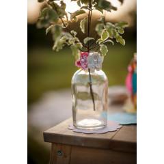 Pinces fleurs lin x6 - 1