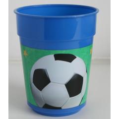 "Verre plastique anniversaire ""Football"""