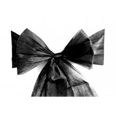 6 Noeuds pour housses de chaise - noirs
