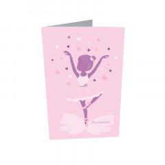 x10 Invitation danseuse + enveloppes
