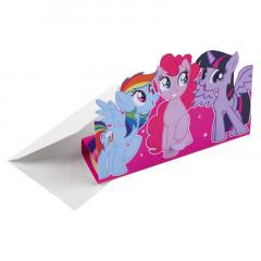 8 cartes d'invitation Mon Petit Poney avec enveloppes