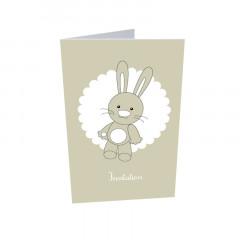 x10 Invitation lapin + enveloppes