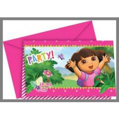 Invitations Dora l'exploratrice - x6