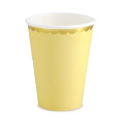 6 gobelets jaunes et or