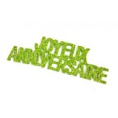 autocollant joyeux anniversaire vert anis