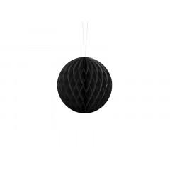 Boule chinoise alvéolée noire - 10 cm