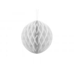 Boule chinoise alvéolée blanche - 20 cm