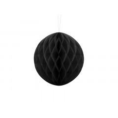 Boule chinoise alvéolée noire - 20 cm