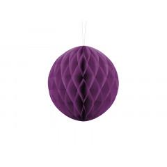Boule chinoise alvéolée couleur raisin - 20 cm