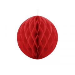 Boule chinoise alvéolée rouge - 30