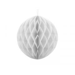 Boule chinoise alvéolée blanche - 30