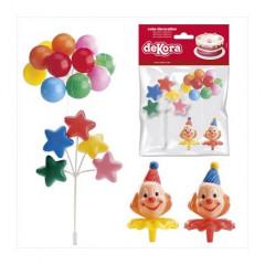 Kit de décoration de gâteau clown