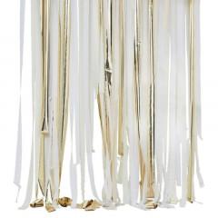 Kit rideau blanc et or