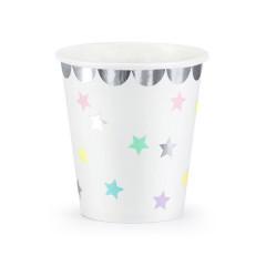 Gobelet blanc étoiles