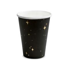 Gobelet en carton Noir et étoile