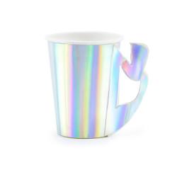 Gobelet jetable iridescent sirène