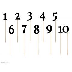 11 Marque-tables chiffres noirs sur piques