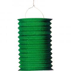 Lampion accordéon vert en papier