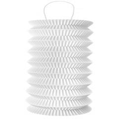 2 Lampions cylindrique blanc - 18 cm