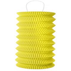 2 Lampions cylindrique jaune - 18 cm