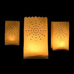 Lot de 10 lanternes en papier étoile