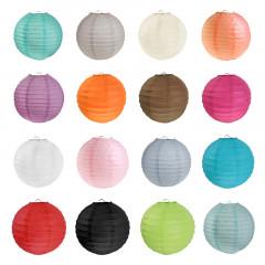 Lanterne papier coloris au choix - 20 cm